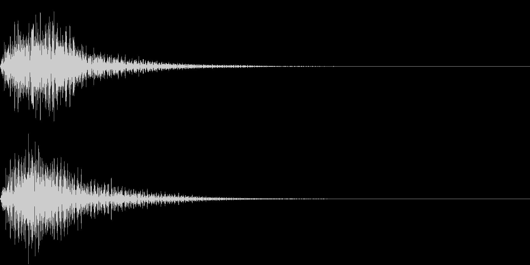 決定音1【ファン】近未来的の未再生の波形