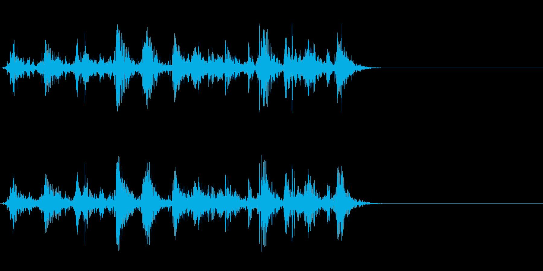 ブクブク!泡や水など特有の効果音!01Cの再生済みの波形