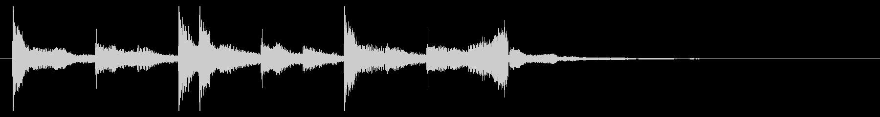切ないきらきらピアノジングル①の未再生の波形