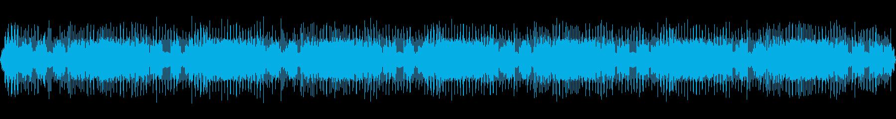 宇宙空間のレーザー燃焼ノイズの再生済みの波形