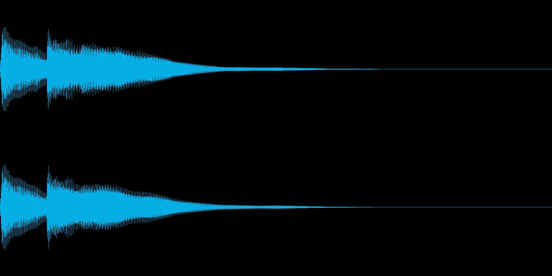正解 2D 明るい音色 ピポンの再生済みの波形