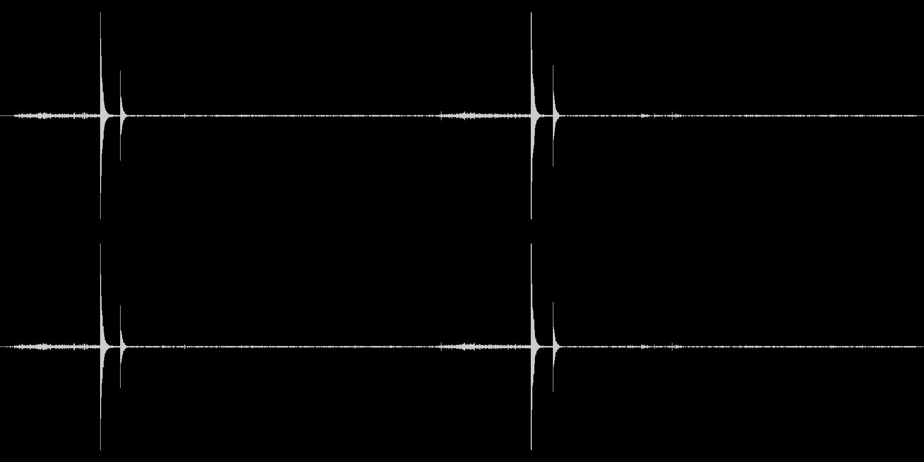 鹿威し(ししおどし)の音の未再生の波形
