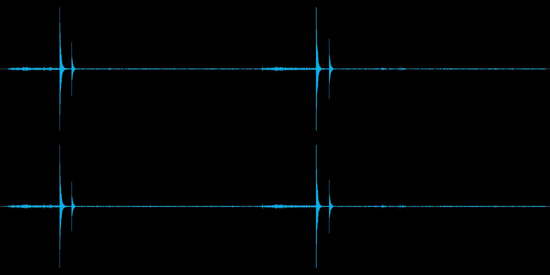 鹿威し(ししおどし)の音の再生済みの波形