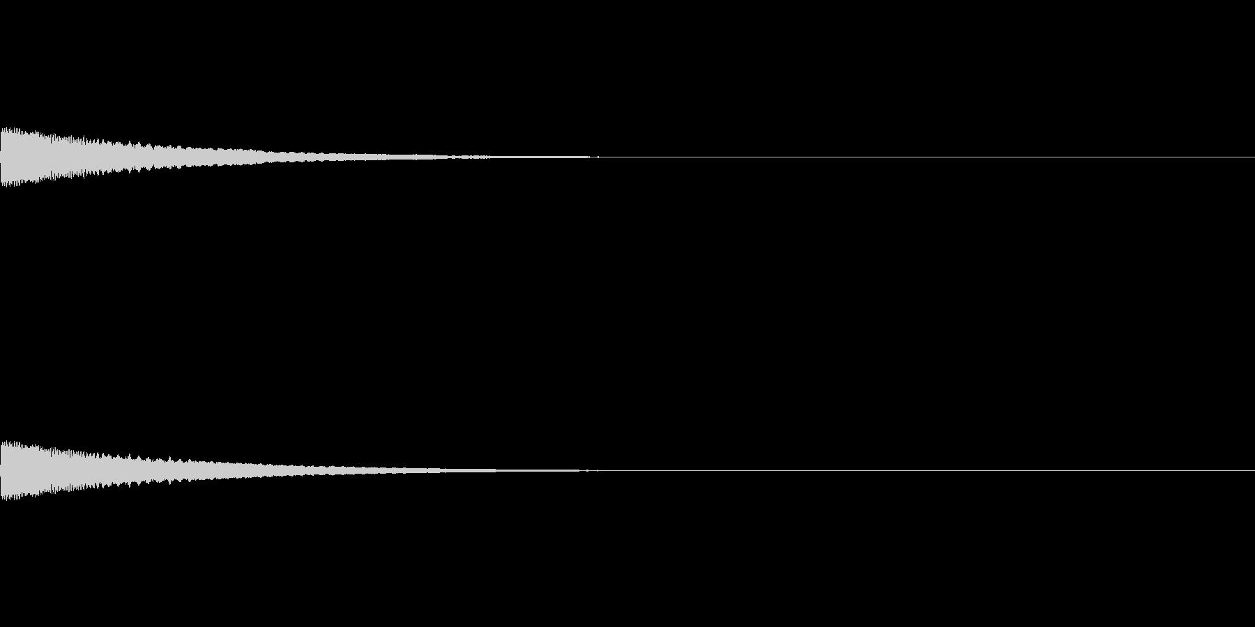 閃く/アイデア/発明/ガード/キラーンの未再生の波形