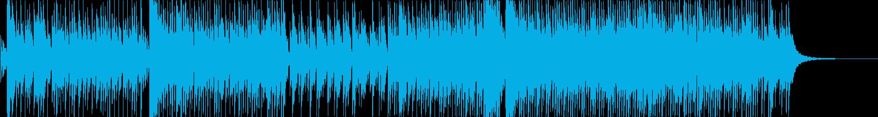 アイドルソング風のインスト楽曲の再生済みの波形