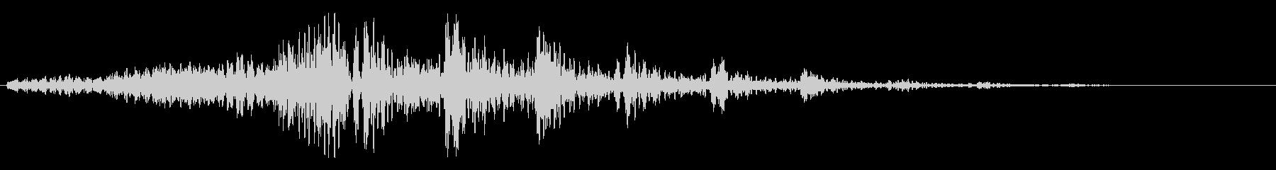重みのあるシンセサイザーのループ曲の未再生の波形