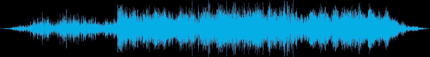 テキストの輝きを歪めるの再生済みの波形