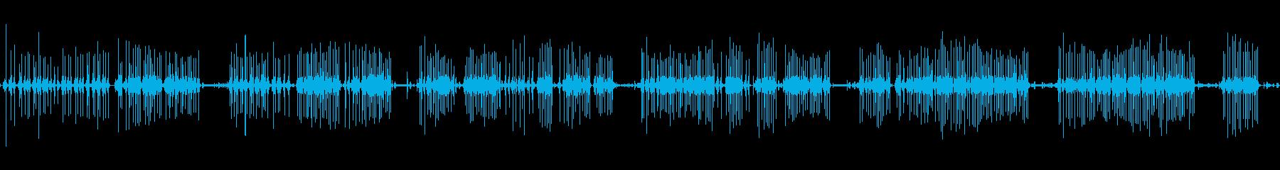 電気:タイピング、ノーマルモード、...の再生済みの波形
