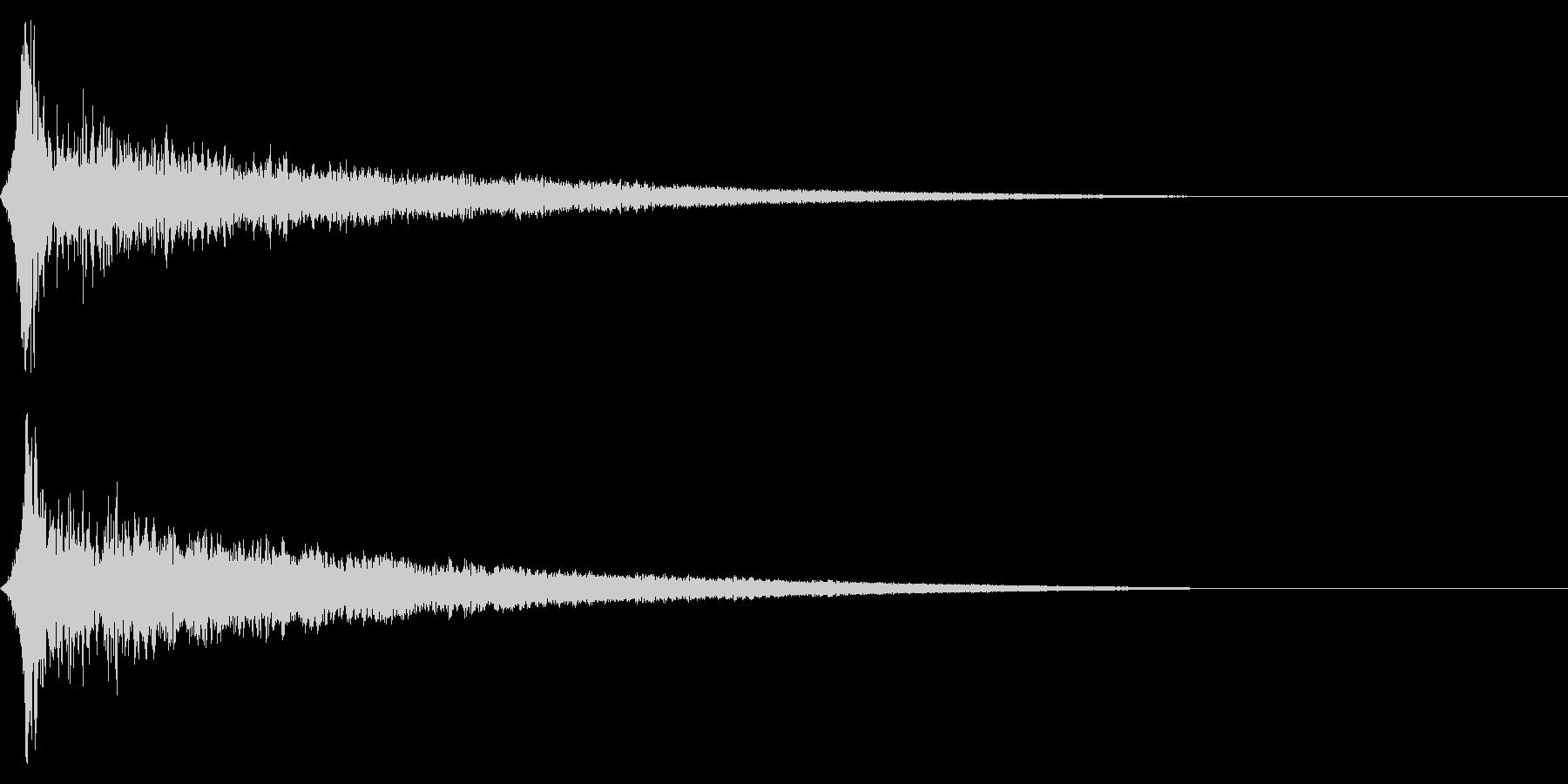 ホラー系アタック音129の未再生の波形