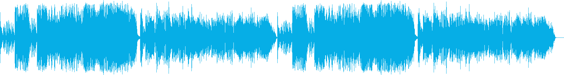 ファンキーでおしゃれなジャズの再生済みの波形