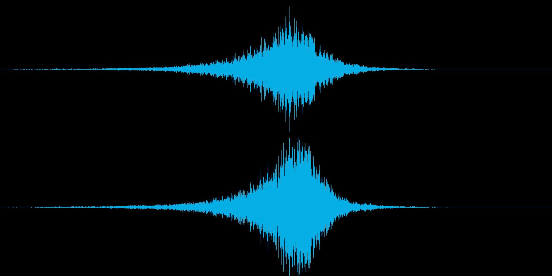 不思議な効果音の再生済みの波形