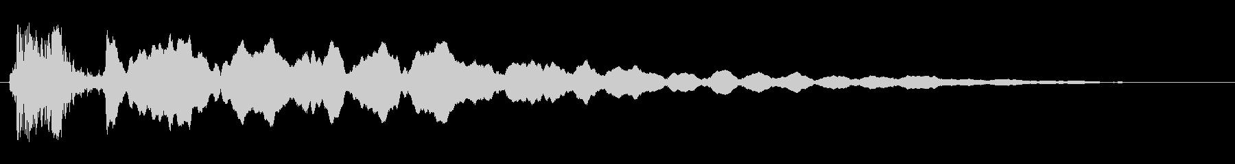 マシンの作動音(大きなモーター、空気音)の未再生の波形