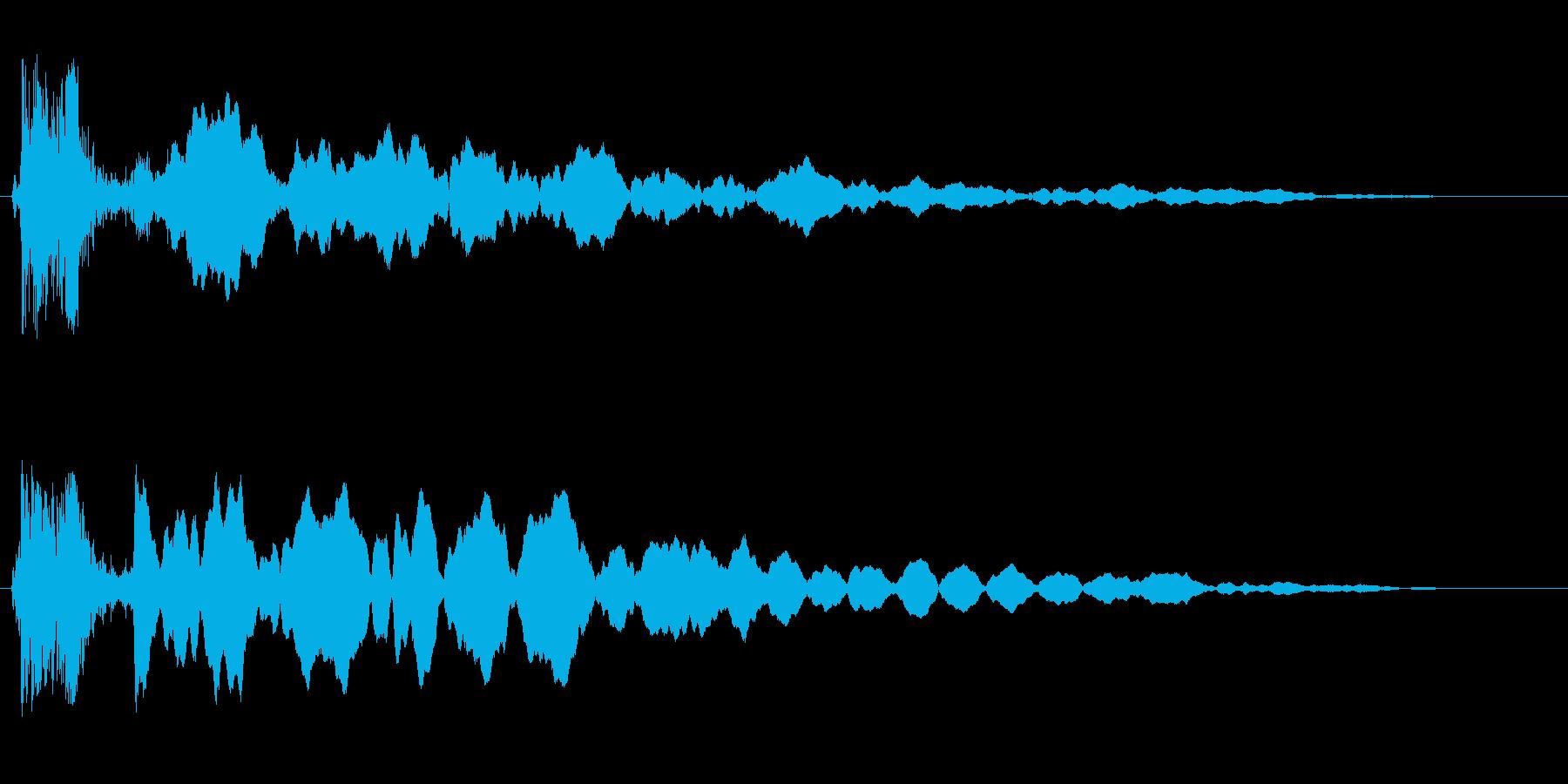 マシンの作動音(大きなモーター、空気音)の再生済みの波形
