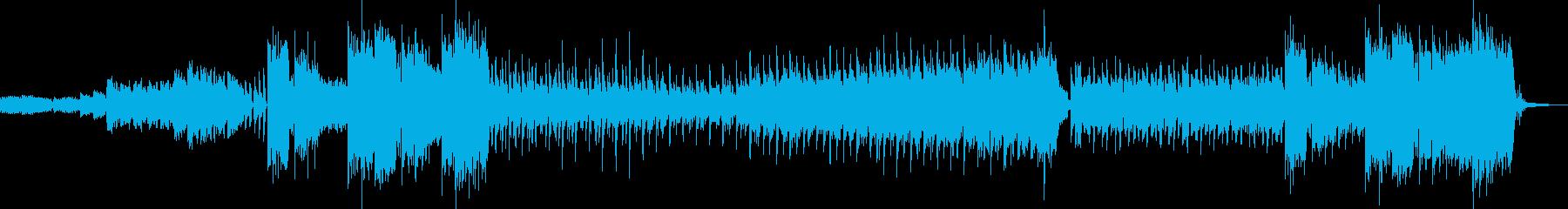 疾走感のあるエキゾチックな曲の再生済みの波形