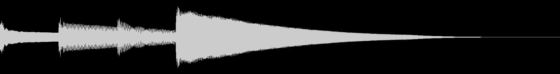 呼び出しベル 上昇(ピンポンパンポーン)の未再生の波形