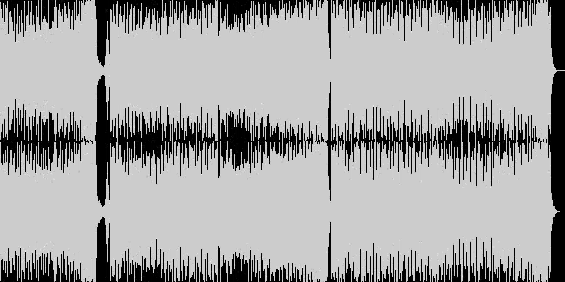 ハッピーダンスミュージックの未再生の波形