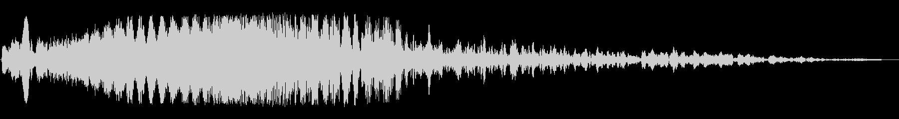 ウィーン(SFのワープ音)の未再生の波形