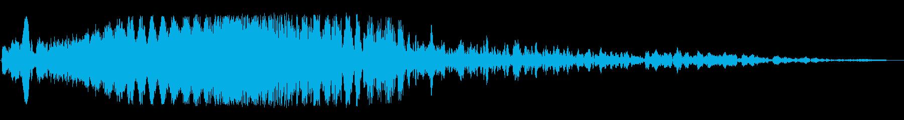 ウィーン(SFのワープ音)の再生済みの波形