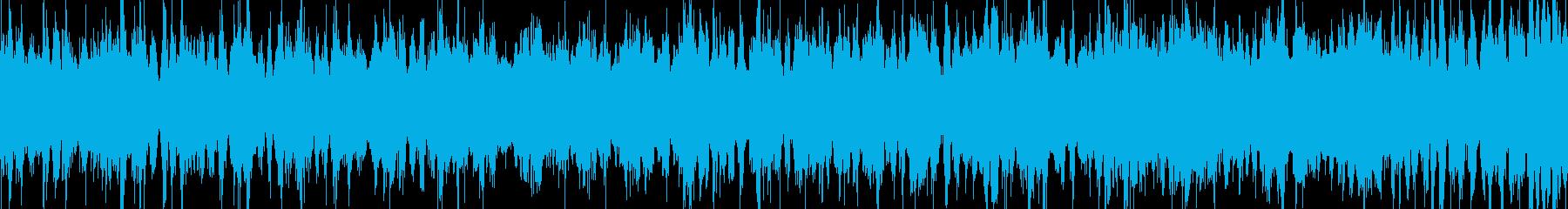 蒸気音の再生済みの波形