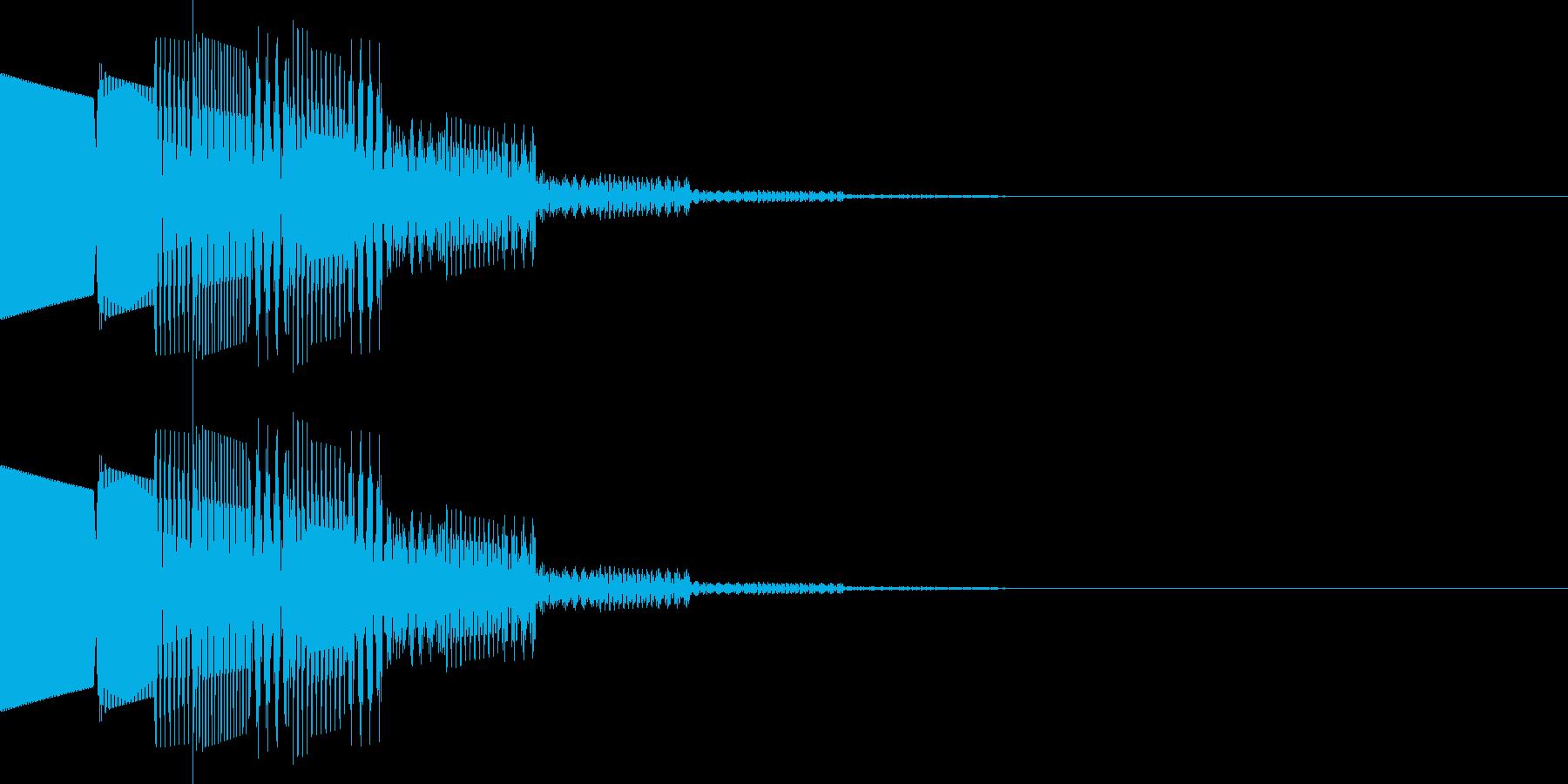 ピロロン(決定、アイテム選択)の再生済みの波形