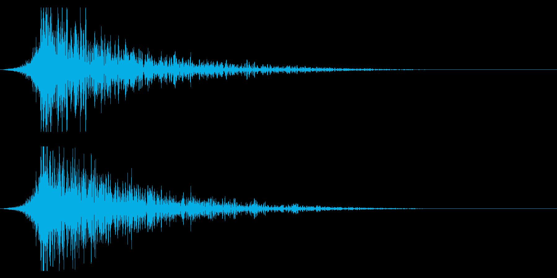 シュードーン-22-1(インパクト音)の再生済みの波形