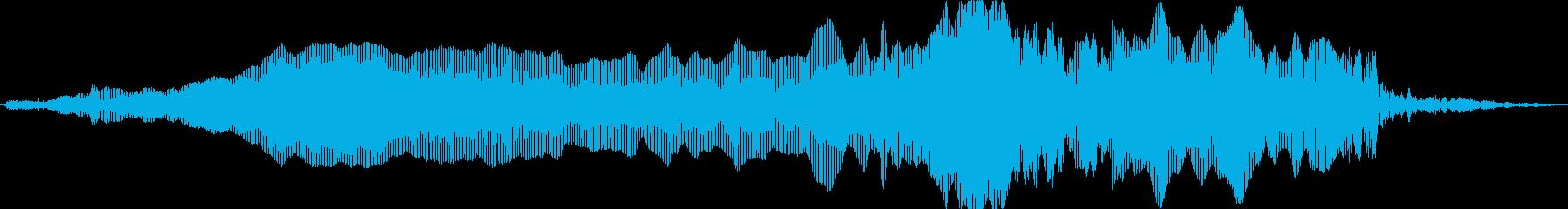 猫ニャー叫ぶの再生済みの波形