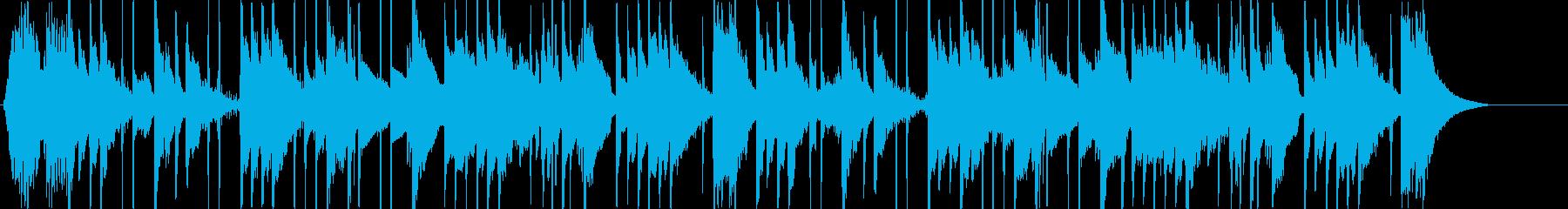 ミステリー用BGMの再生済みの波形