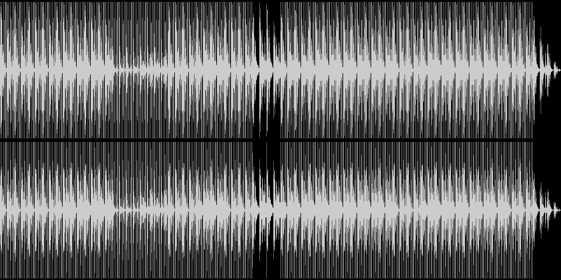 落ち着いた雰囲気のHIP-HOP風BGMの未再生の波形