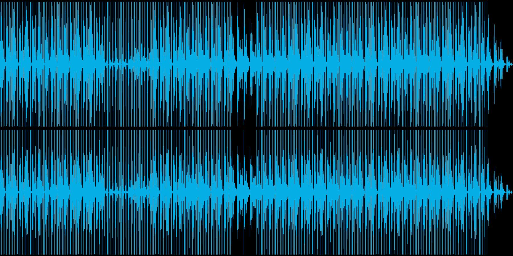 落ち着いた雰囲気のHIP-HOP風BGMの再生済みの波形