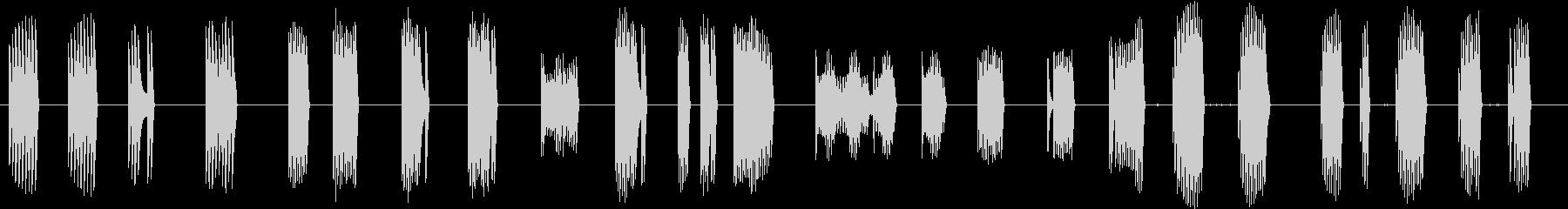 トーンラピッドバーストサンプルホールドの未再生の波形
