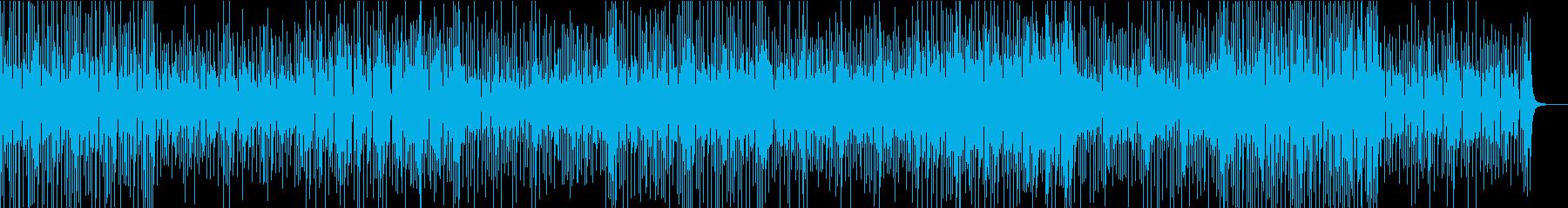 5拍子のアジア系シンセミュージックの再生済みの波形