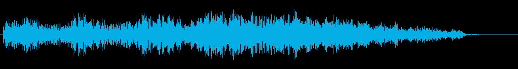 ローズピアノのキラキラしたジングル_5秒の再生済みの波形