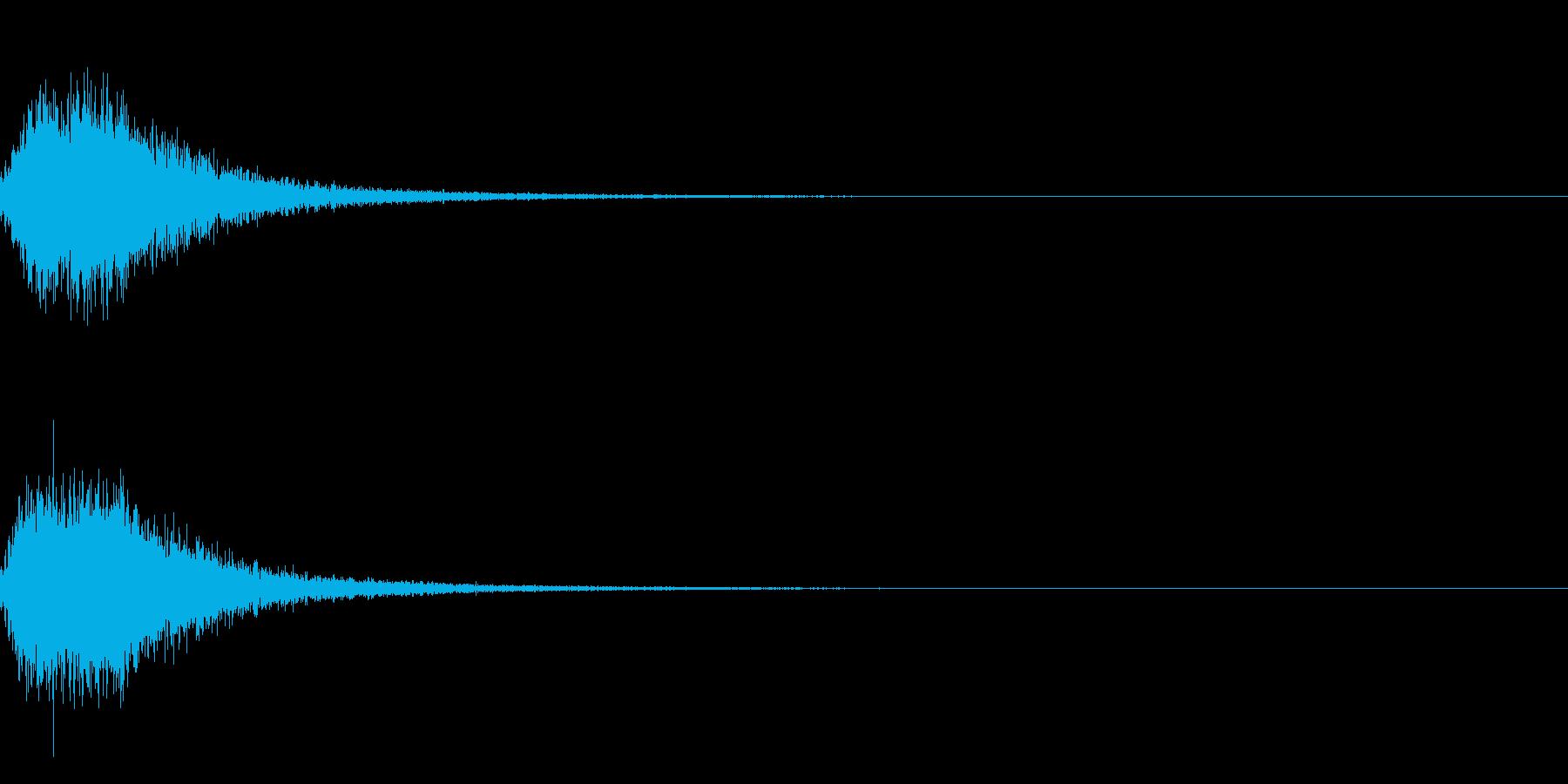 迫力ある和風な歌舞伎の床音(附け木)01の再生済みの波形