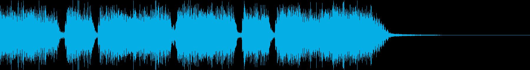 エネルギッシュ・ロックなサウンドロゴ01の再生済みの波形