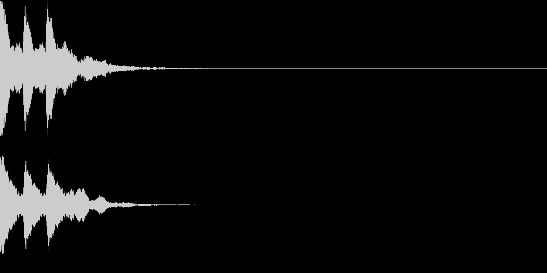 チチチン・和楽器・鉦(かね・しょう)の未再生の波形