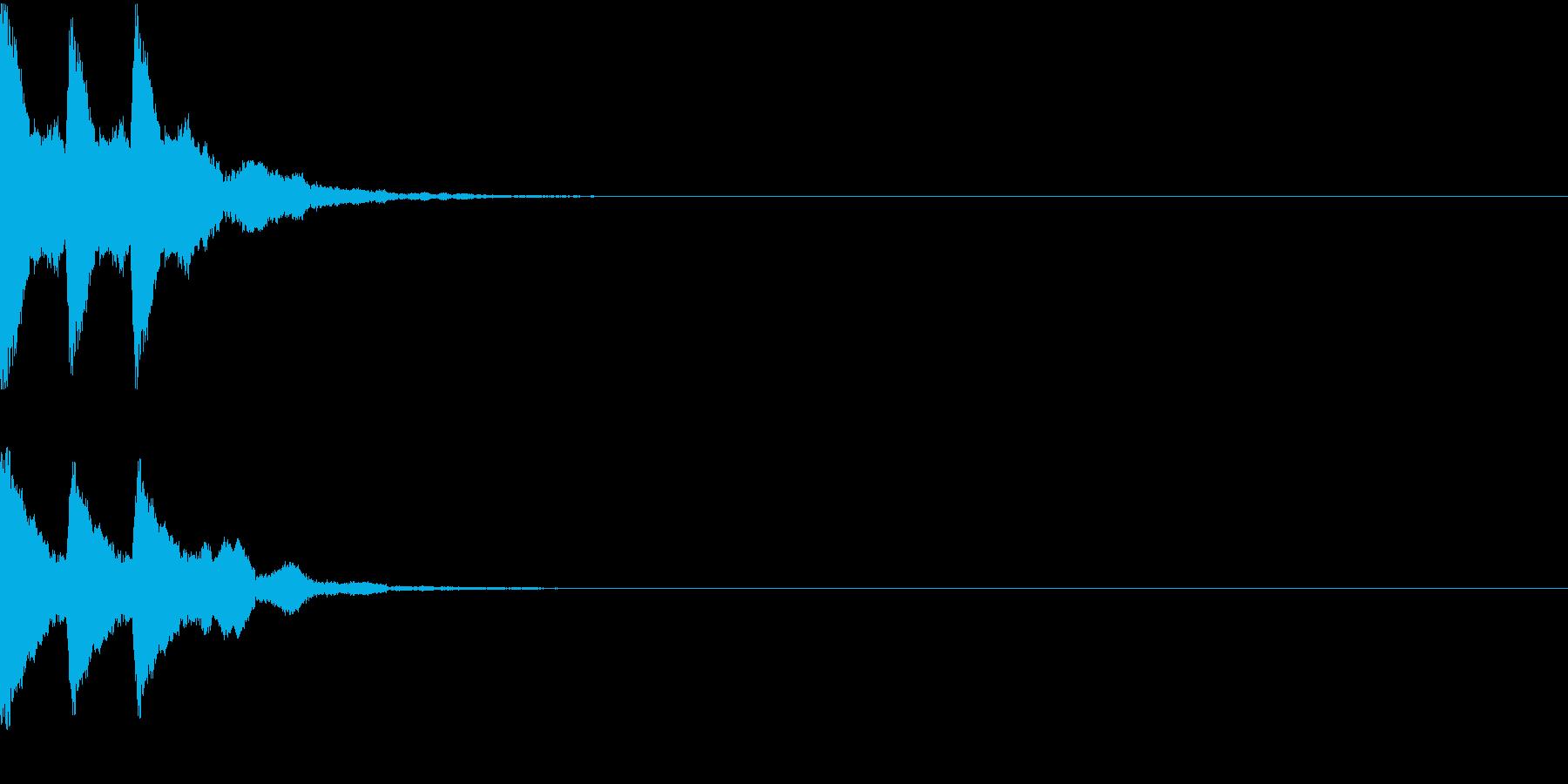 チチチン・和楽器・鉦(かね・しょう)の再生済みの波形