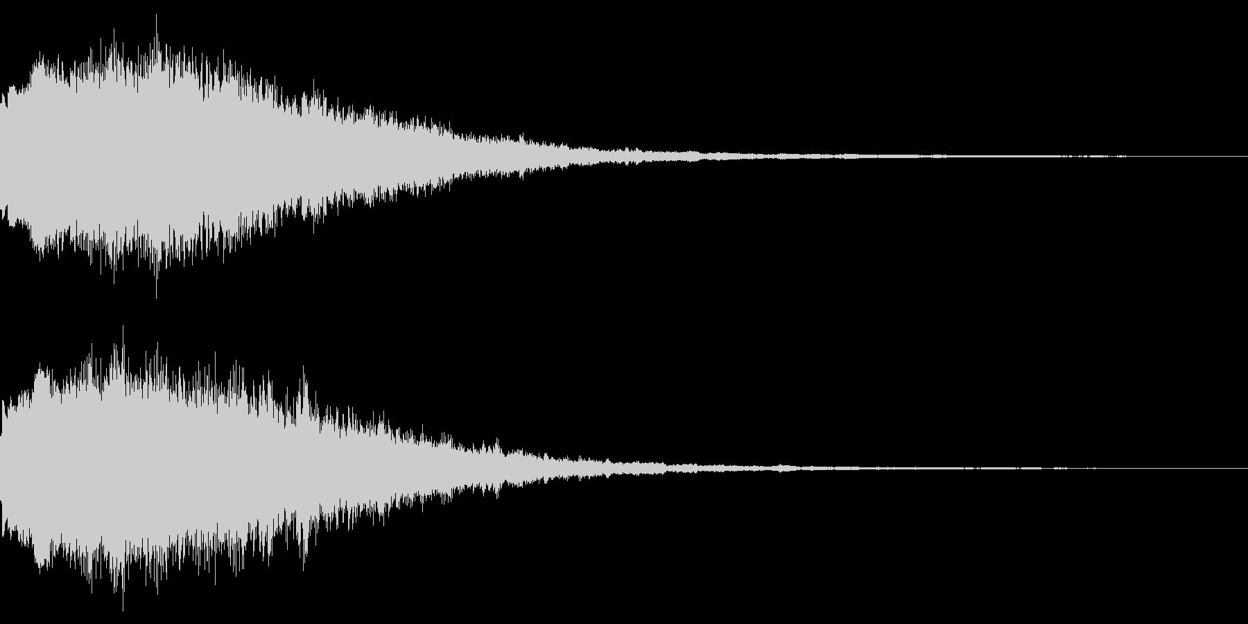 キラキラーン(魔法エフェクト発動)の未再生の波形