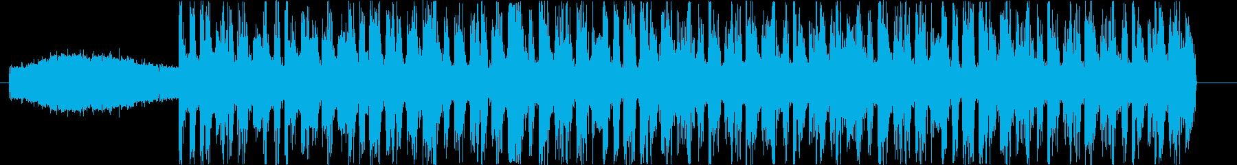 悪者が現れそうなデジタルロックの再生済みの波形
