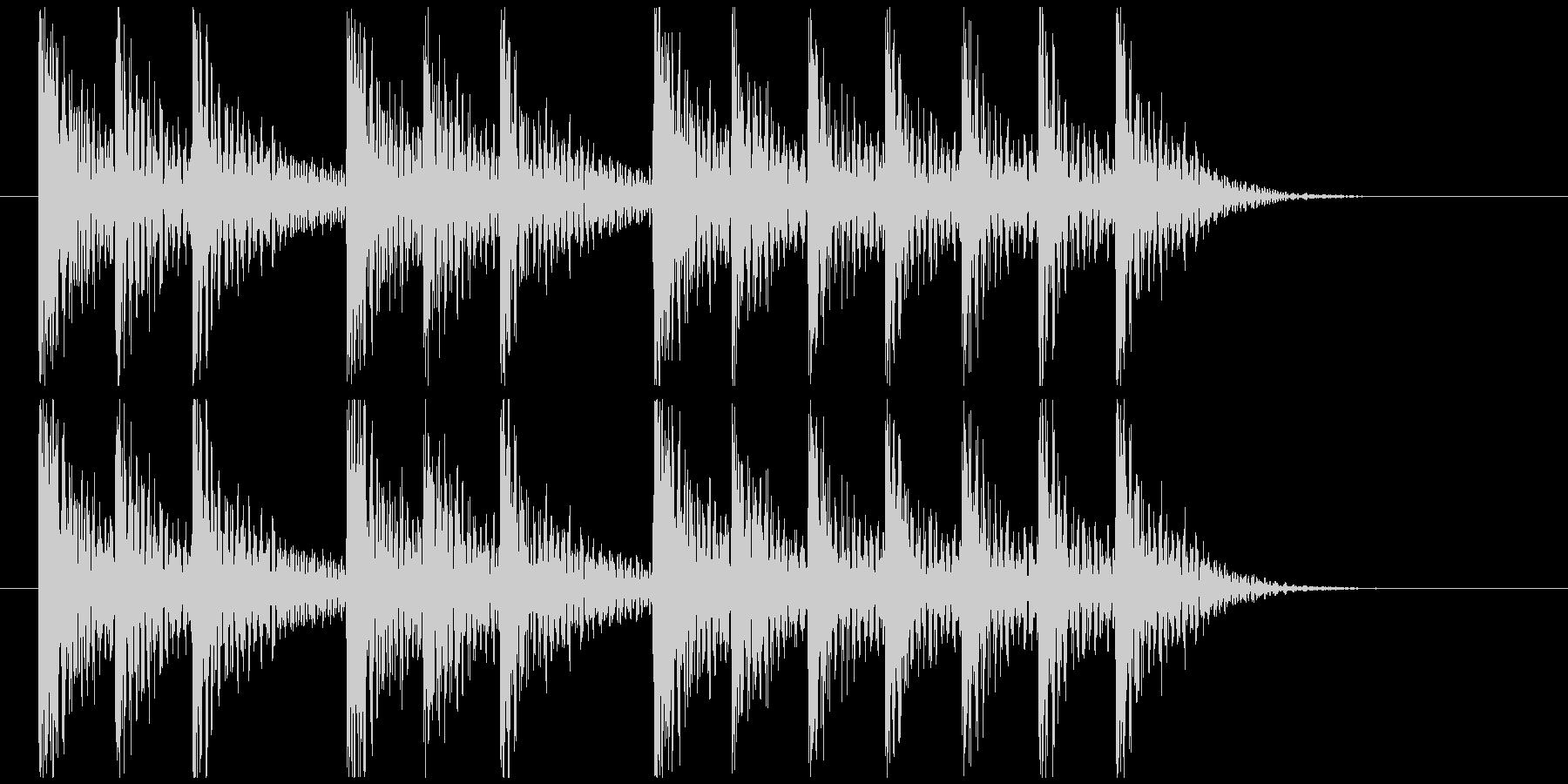三三七拍子モチーフ力強い和風ジングル 5の未再生の波形