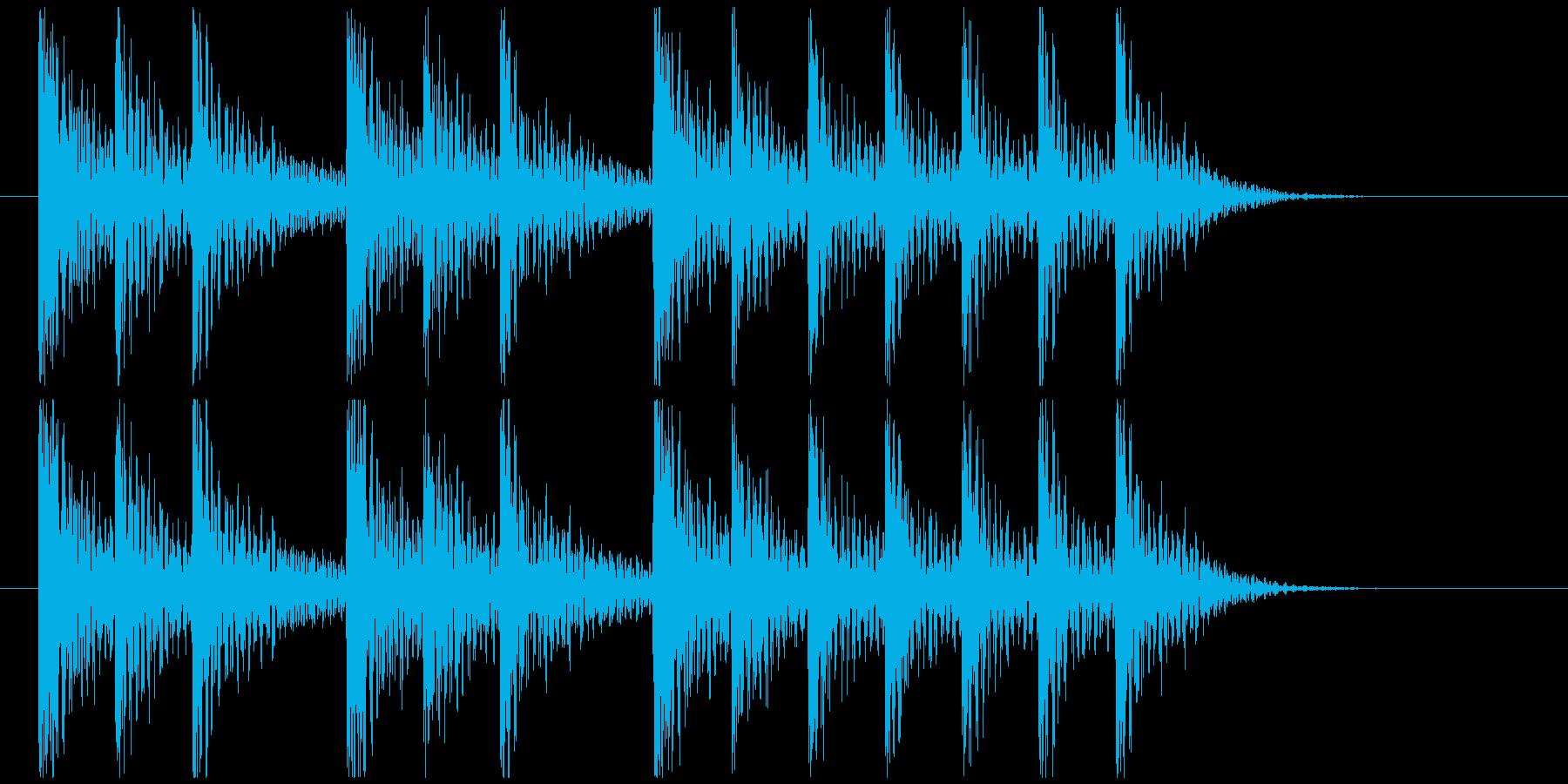 三三七拍子モチーフ力強い和風ジングル 5の再生済みの波形