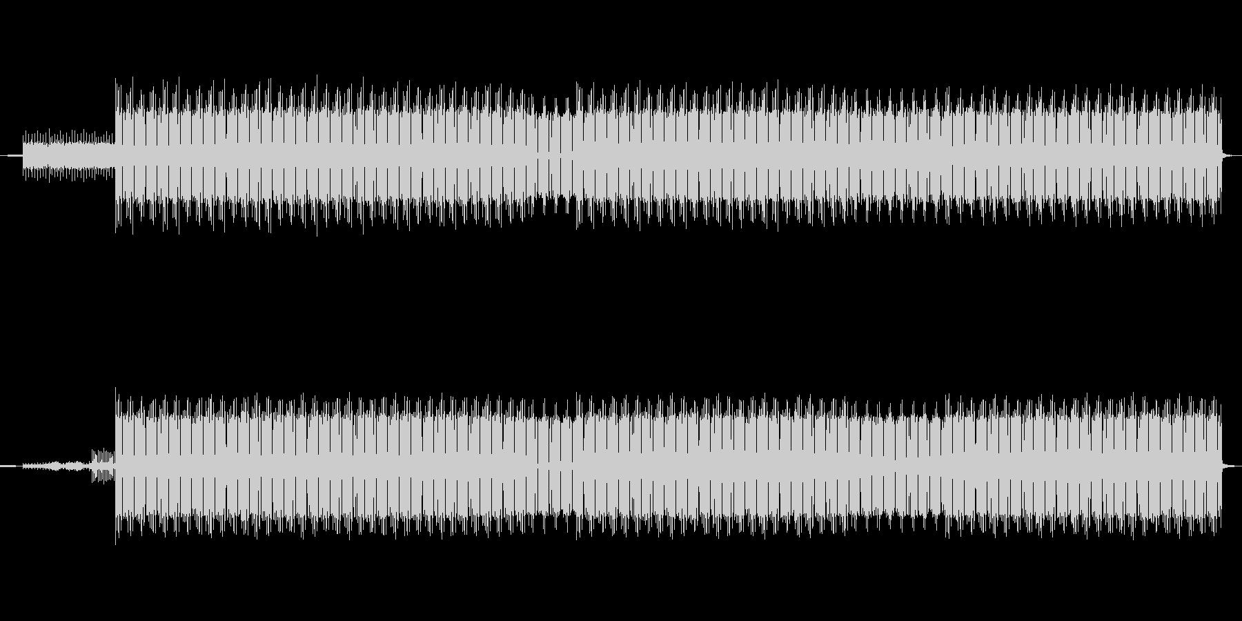 サイバー感あふれるテクノ-エレクトロニカの未再生の波形
