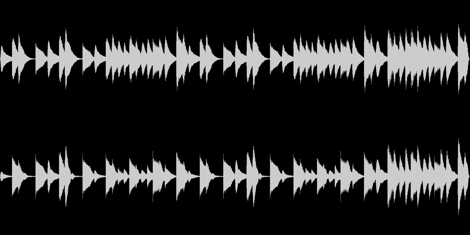 木琴と鉄琴の淡々とした静かなBGMの未再生の波形