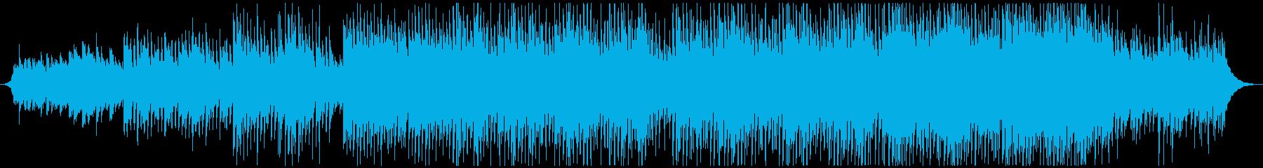 ギターとストリングスの高揚感アップビートの再生済みの波形