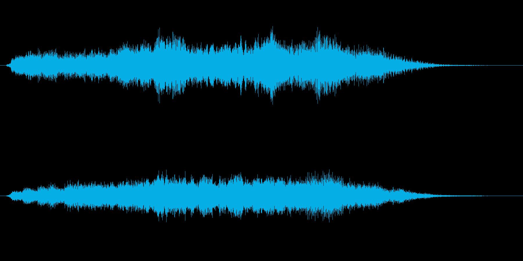 ふわっとミステリアスなサウンドロゴの再生済みの波形