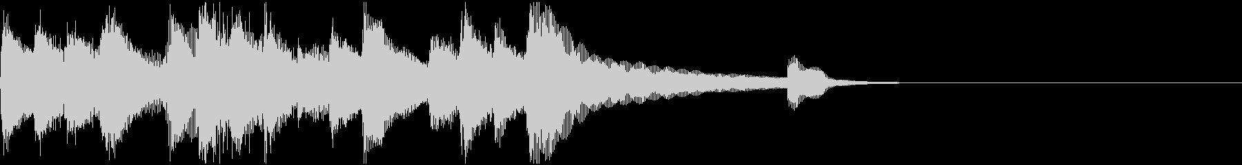 ピアノとストリングスの爽やかなジングルの未再生の波形