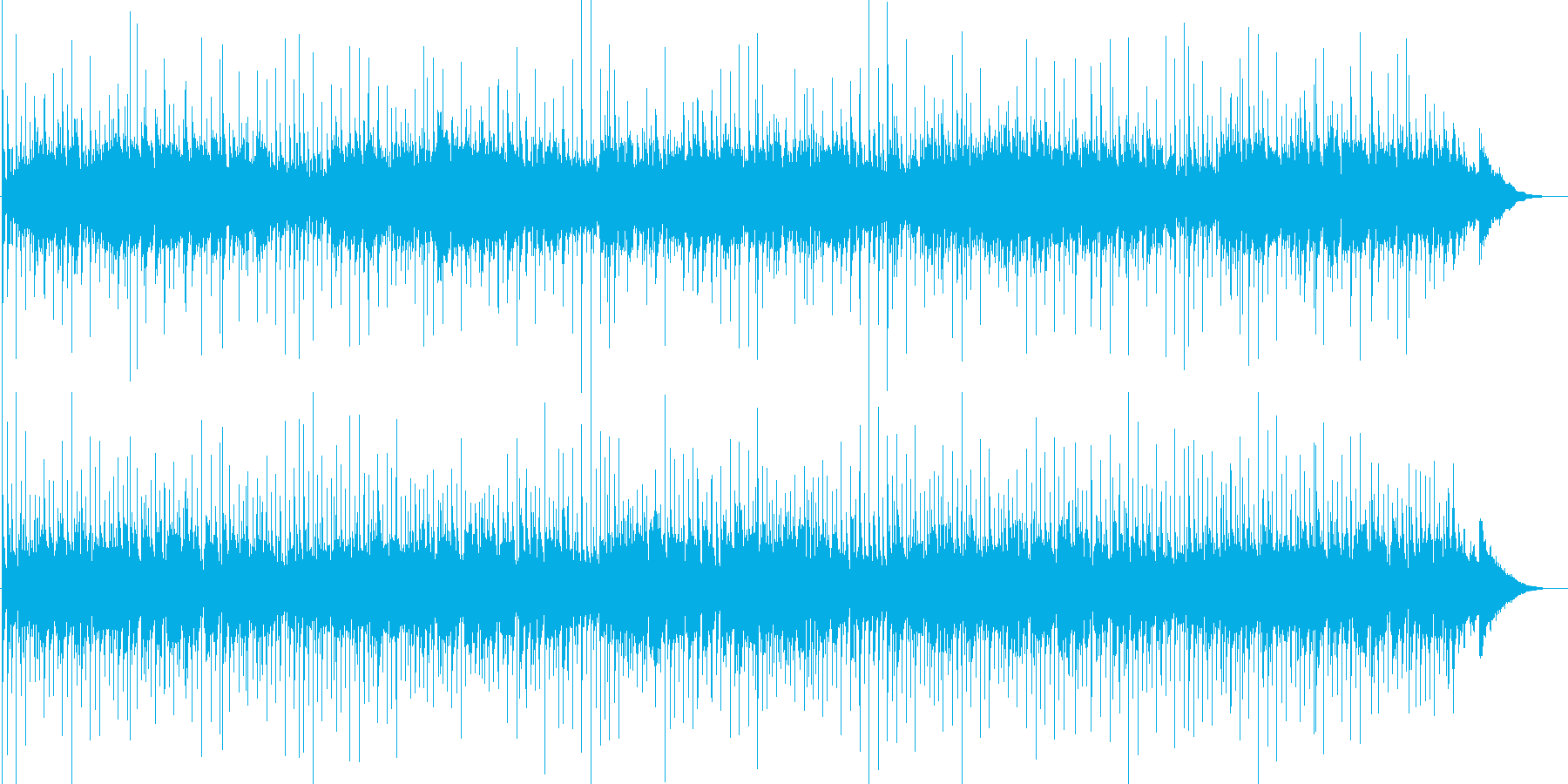 アコギによるリラックスできるヒーリング曲の再生済みの波形