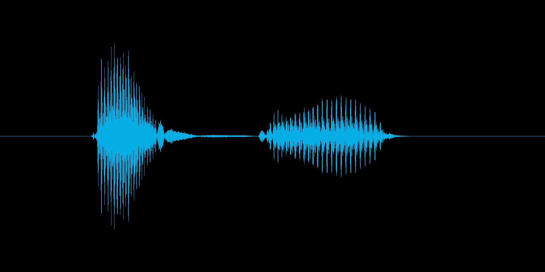 赤の再生済みの波形