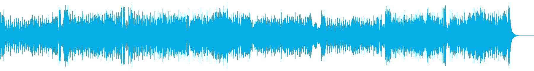 サックスとピアノの爽やかな4つ打ち曲の再生済みの波形