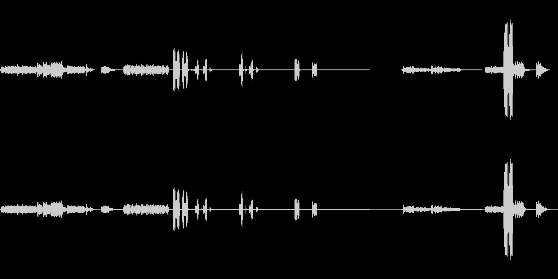 ラボコンピュータのビープ音。プリン...の未再生の波形