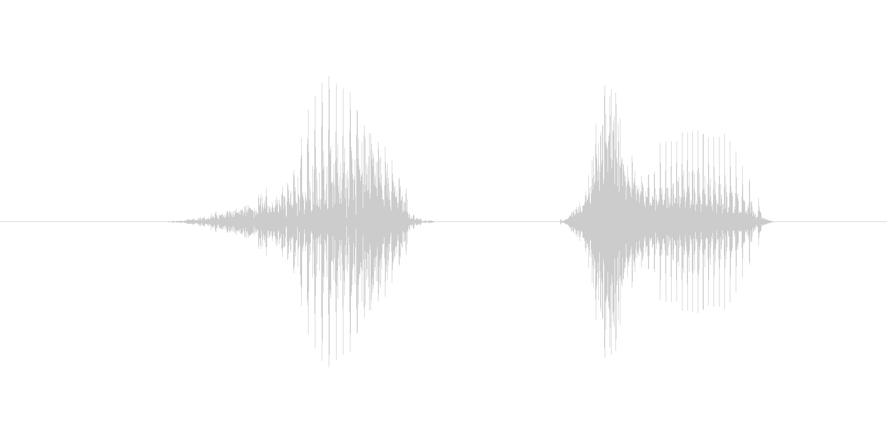 8(数字、女性)の未再生の波形